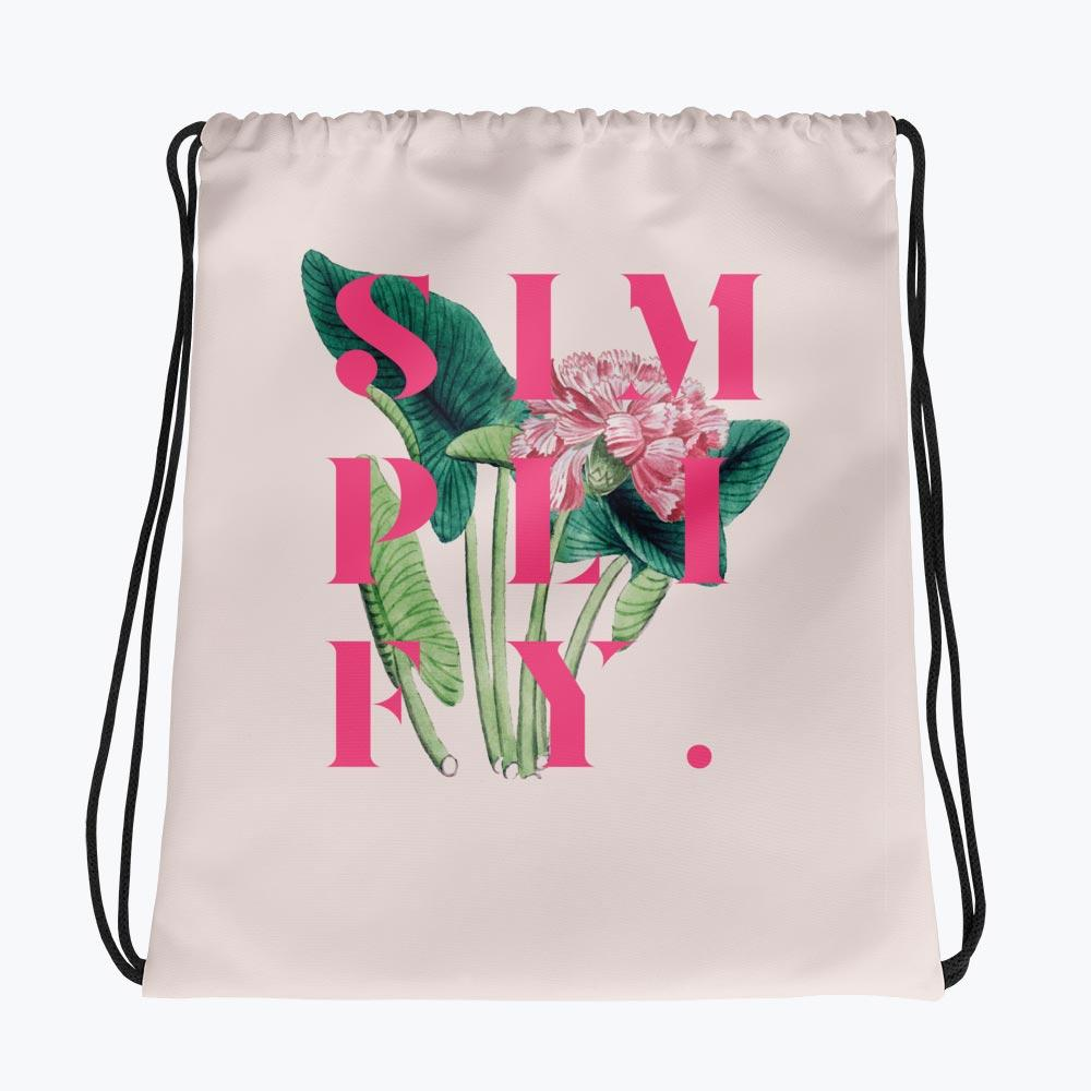 Simplify Drawstring bag