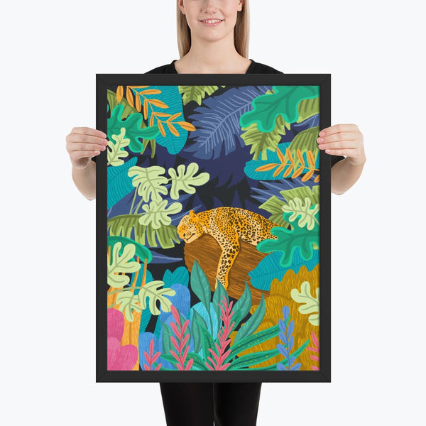 Sleeping Panther Framed Poster