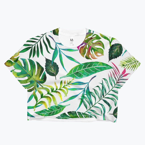 Tropical Flora Ladies Crop Top
