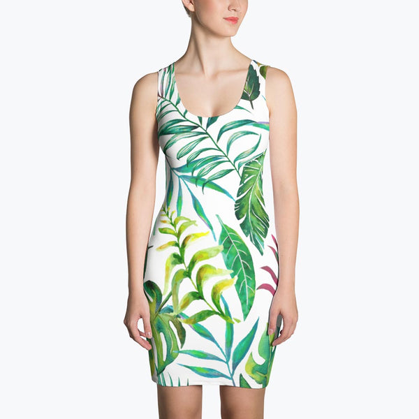 Tropical Flora Sublimation Dress