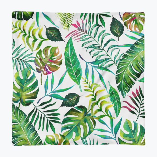 Tropical Flora Square Pillow Case only
