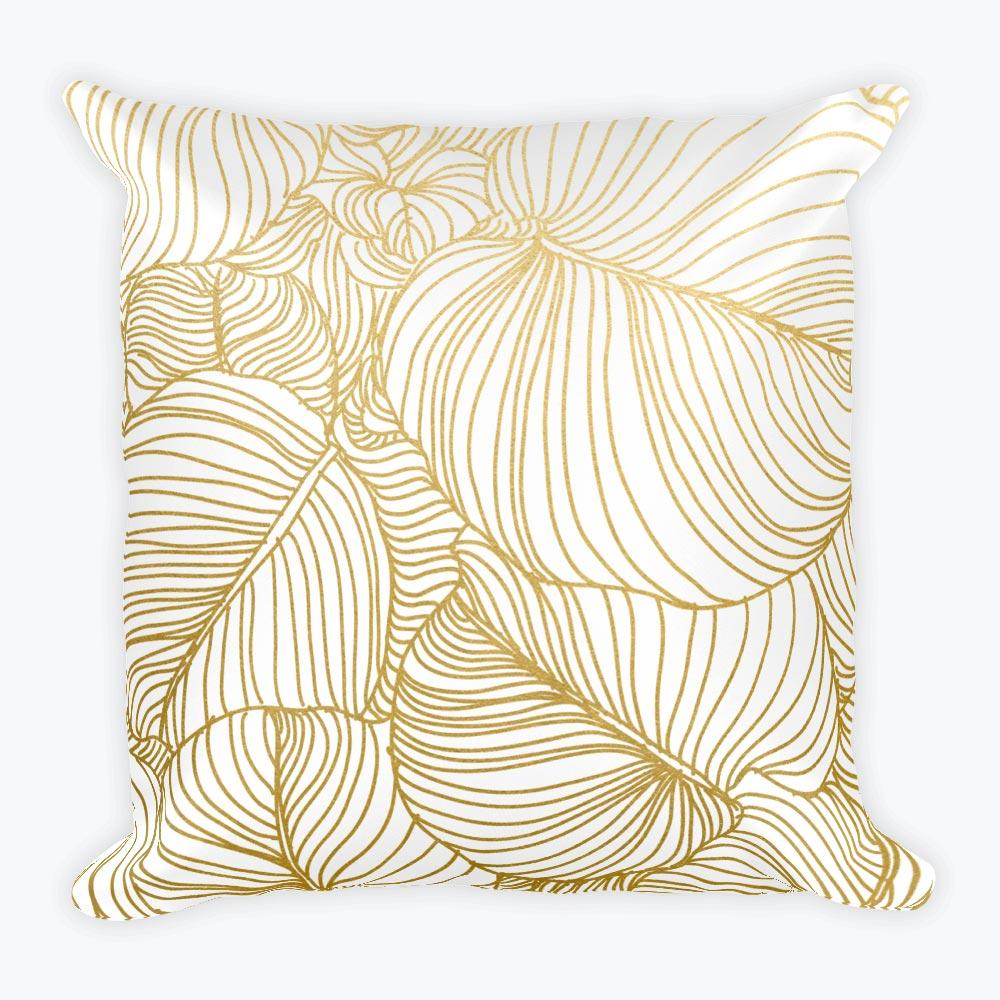 Wilderness Gold Square Pillow