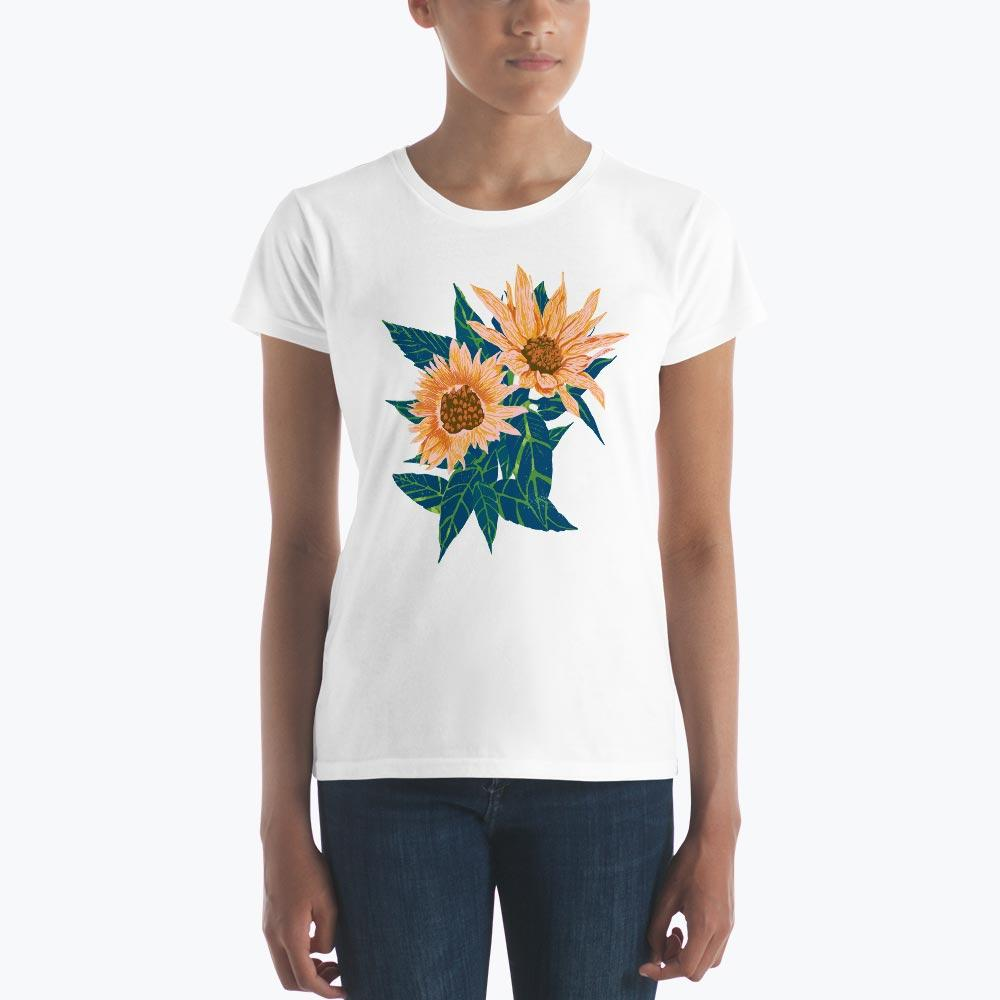 Blush Sunflowers Women's short sleeve t-shirt