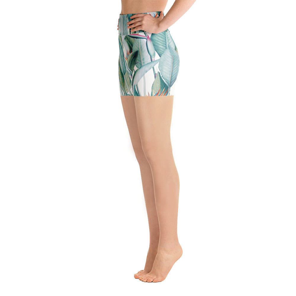 Back to Paradise Island Yoga Shorts
