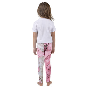 Nude + Pink Marble Kid's Leggings