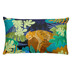 Sleeping Panther Rectangular Pillow