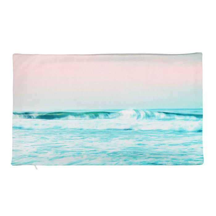 Sun. Sand. Sea. Rectangular Pillow Case only