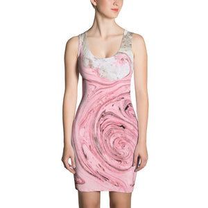 Nude + Pink Marble Sublimation Dress