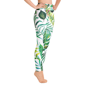 Tropical Flora Yoga Leggings