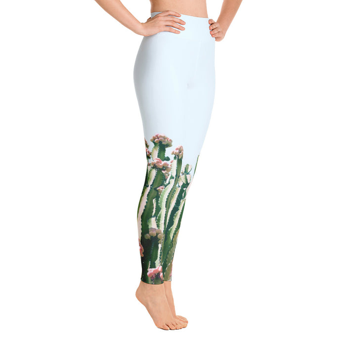 Blush Cactus Yoga Leggings