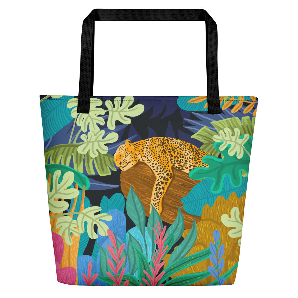 Sleeping Panther Beach Bag