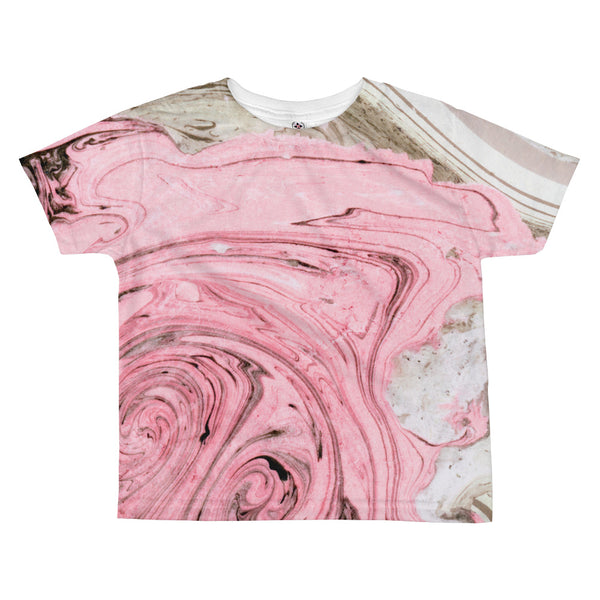 Nude + Pink Marble All-over Kids T-shirt
