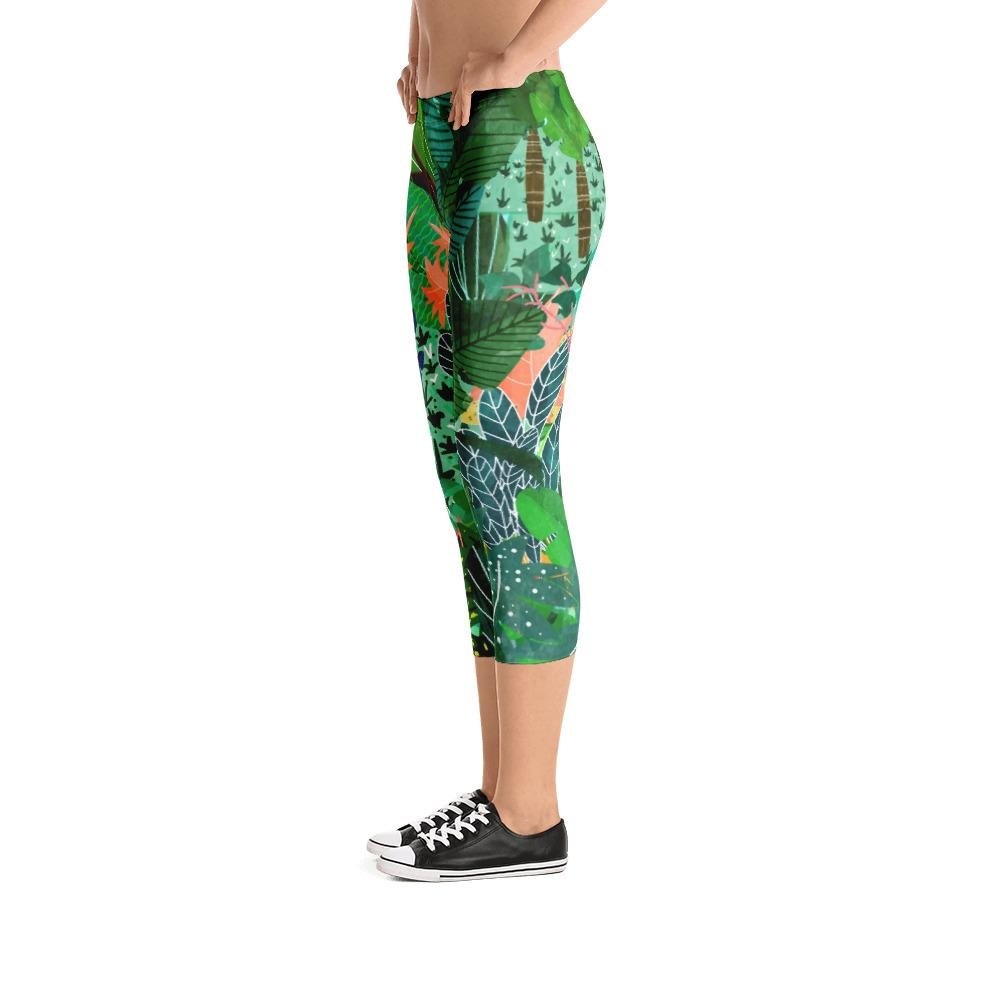 Dense Forest Capri Leggings