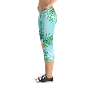 Tropic Palm Capri Leggings