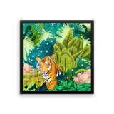Jungle Tiger Framed Poster