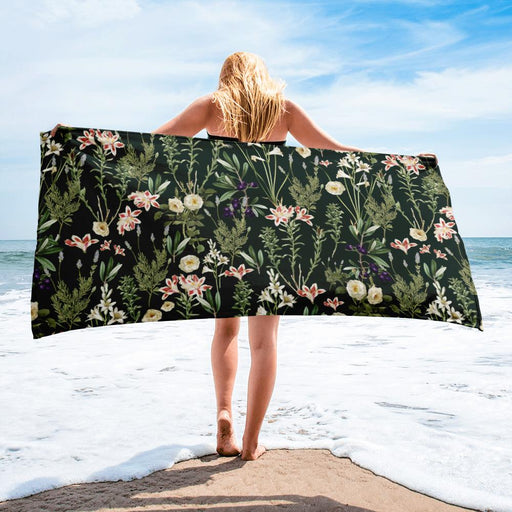Dark Botanical Garden Towel