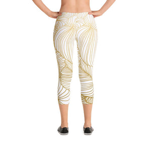 Wilderness Gold Capri Leggings