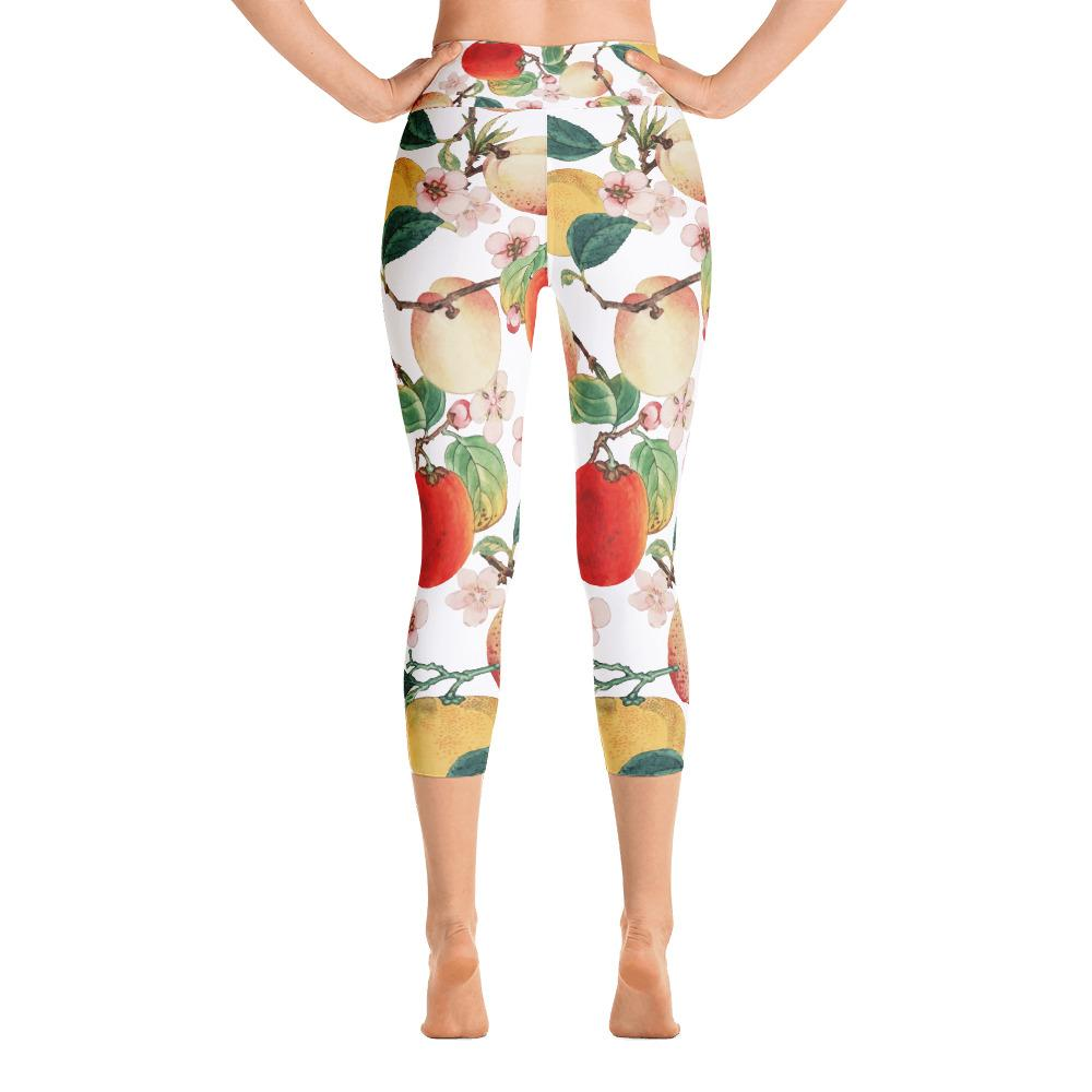 Fruity Summer Yoga Capri Leggings