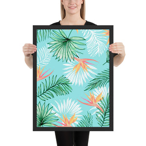 Tropic Palm Framed Poster