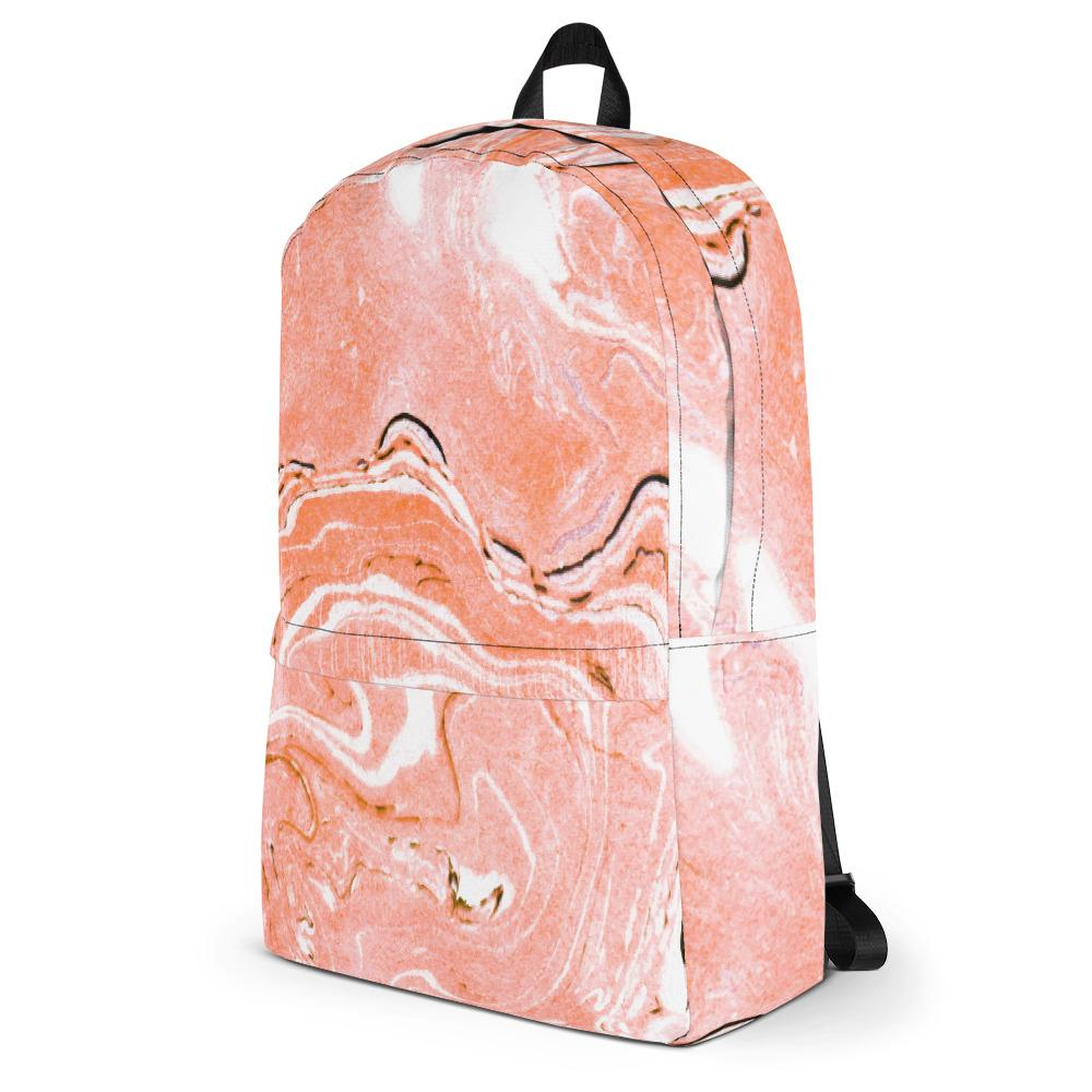 Coral Blush Marble Backpack