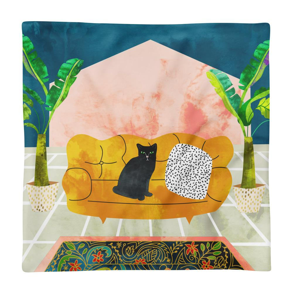 Meow Square Pillow Case only