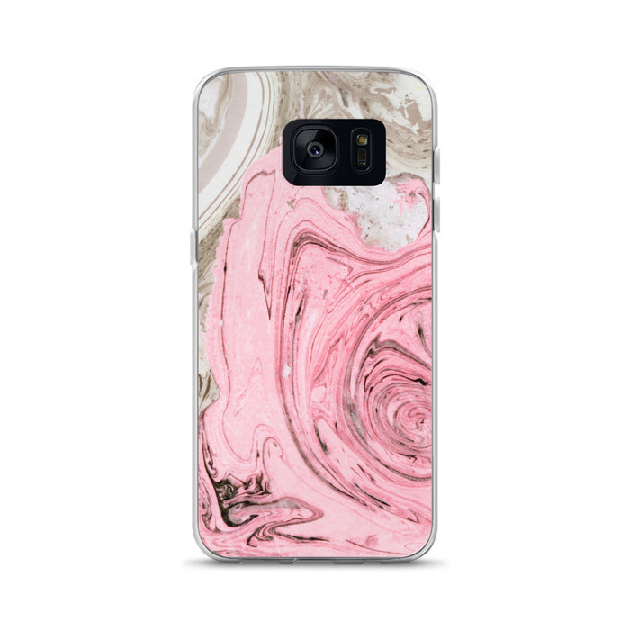 Nude + Pink Marble Samsung Case