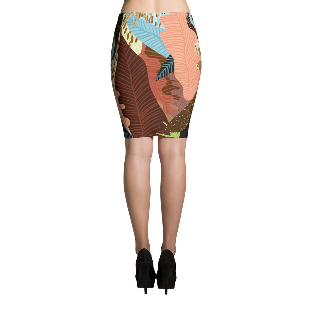 Earthy Forest Pencil Skirt