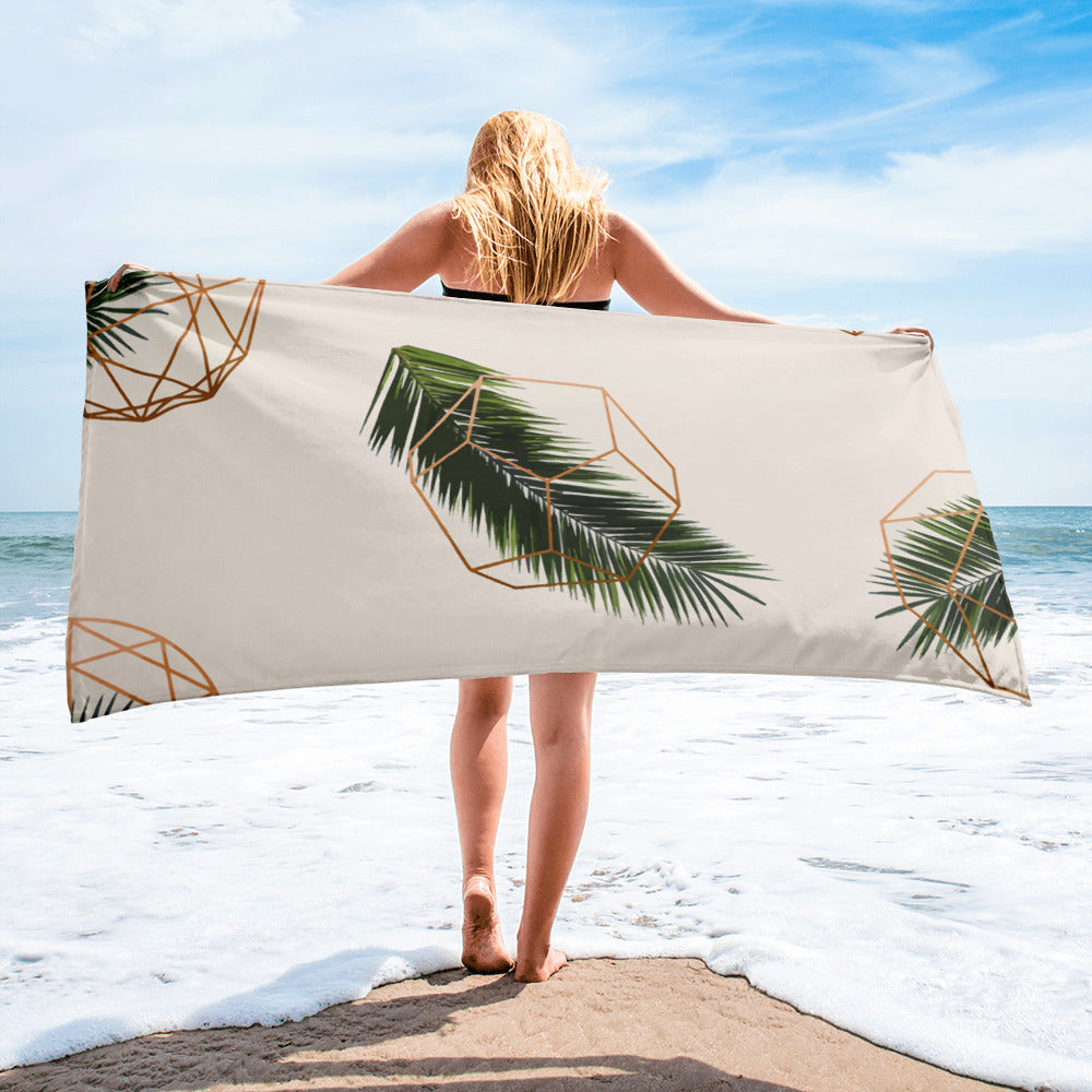 Palm and Geometry Towel