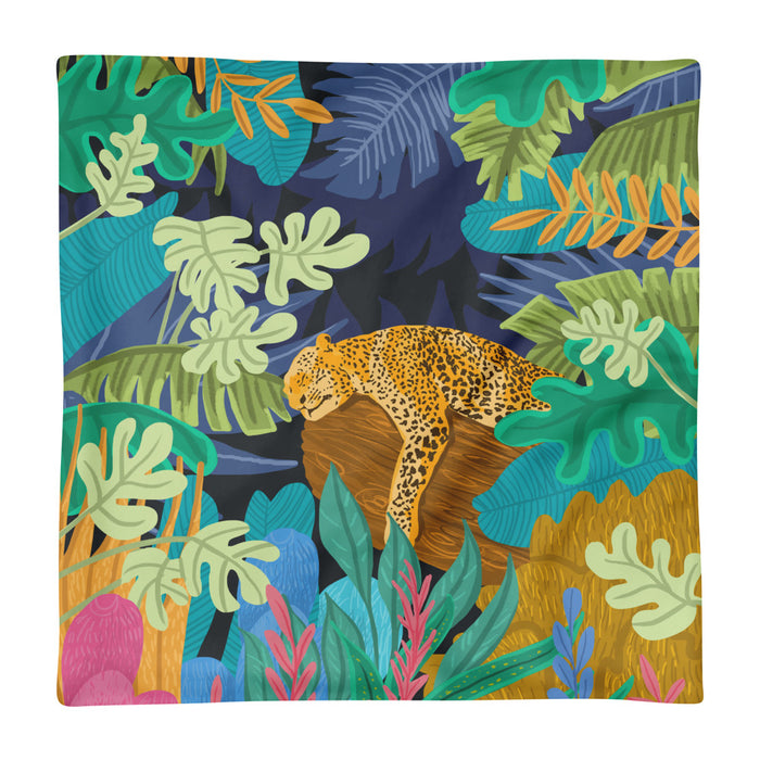 Sleeping Panther Square Pillow Case Only