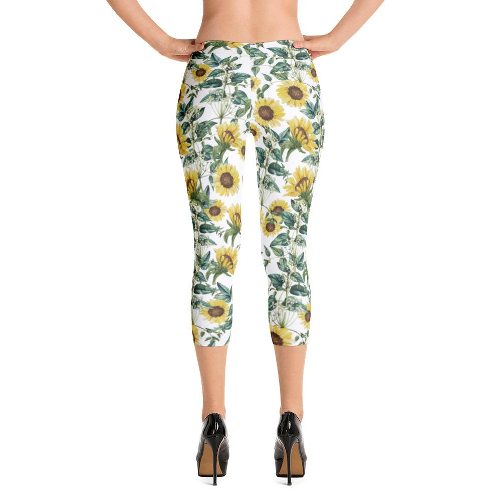 Sunflower Valley Capri Leggings