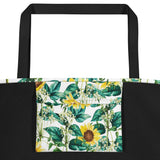 Sunflower Valley Beach Bag