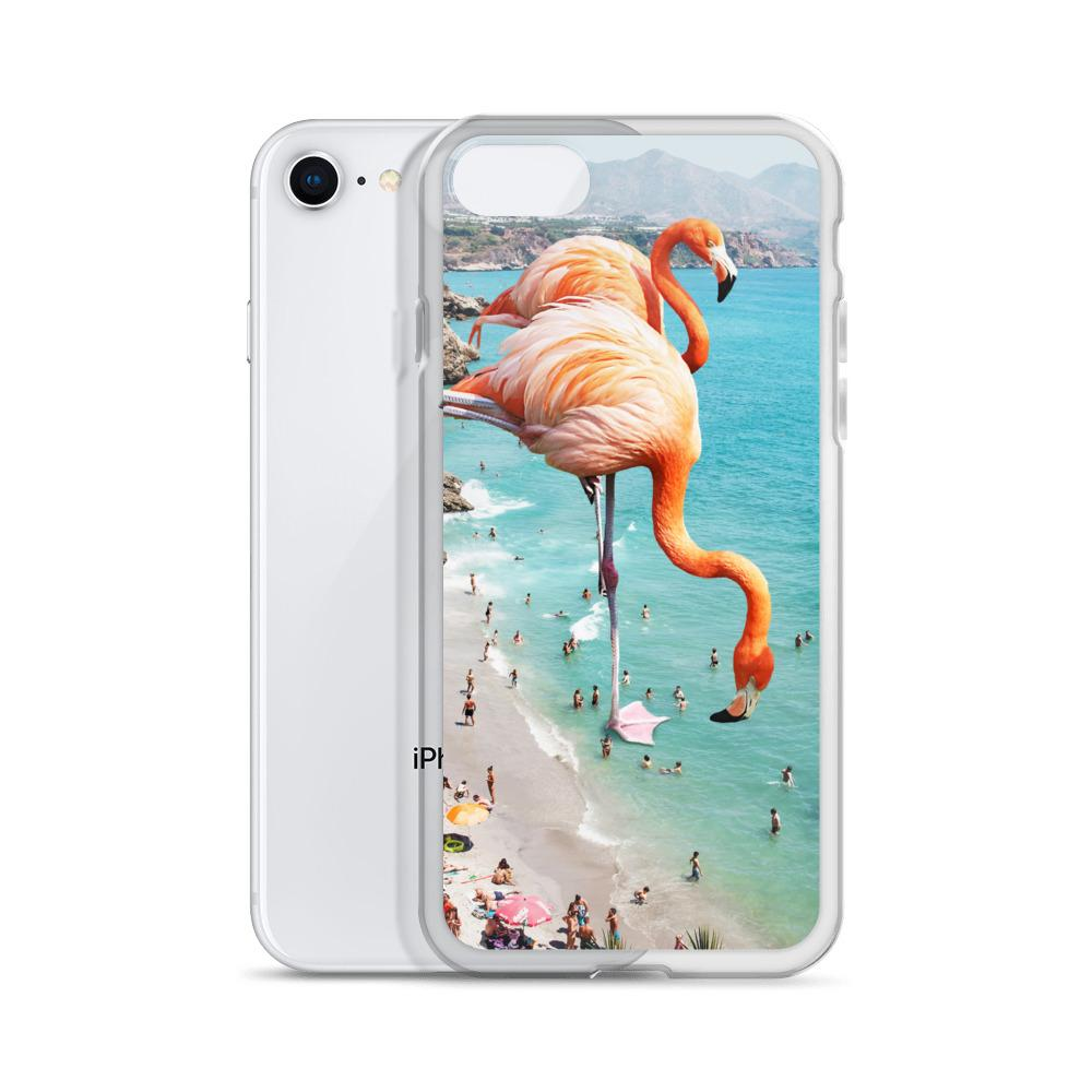 Flamingos on the Beach iPhone Case