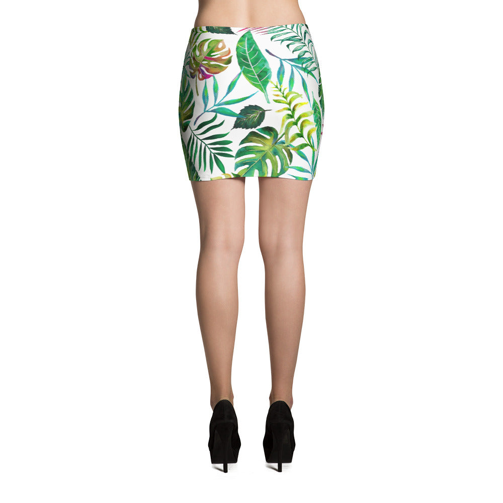 Tropical Flora Mini Skirt