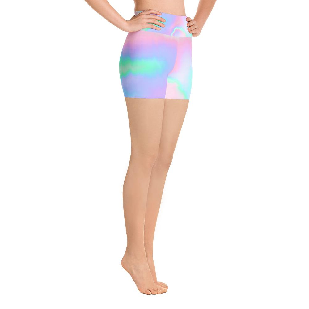 Holograph Yoga Shorts