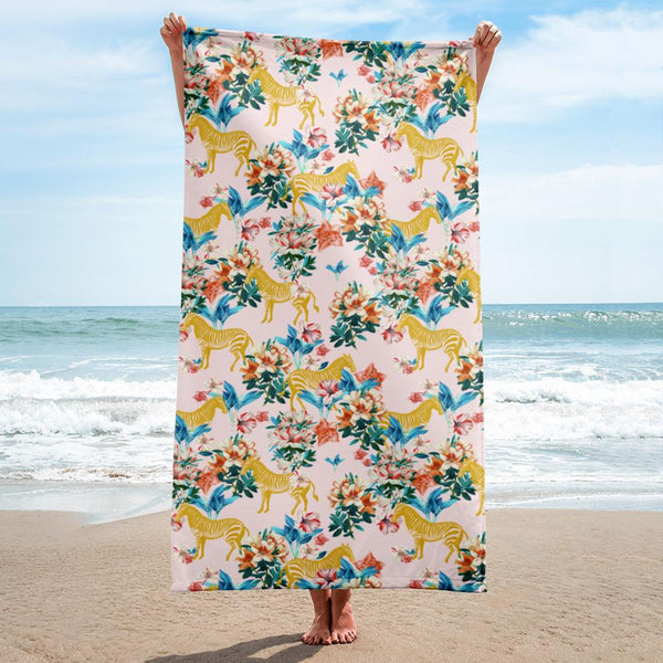 Floral and Zebras Towel