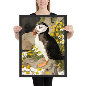 Puffin Framed Poster
