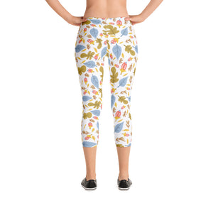 Leaflets Capri Leggings
