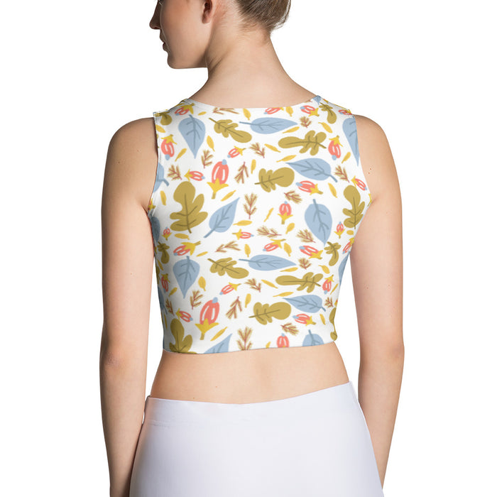 Leaflets Sublimation Crop Top