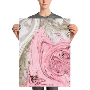 Nude + Pink Marble Poster