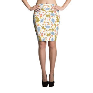 Leaflets Pencil Skirt