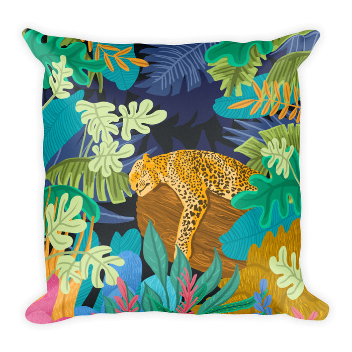 Sleeping Panther Square Pillow