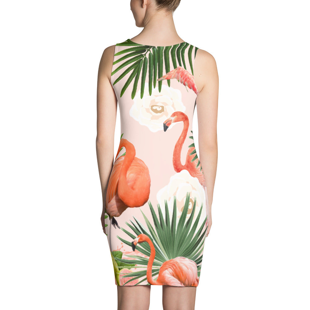 Flamingo Guava Sublimation Dress