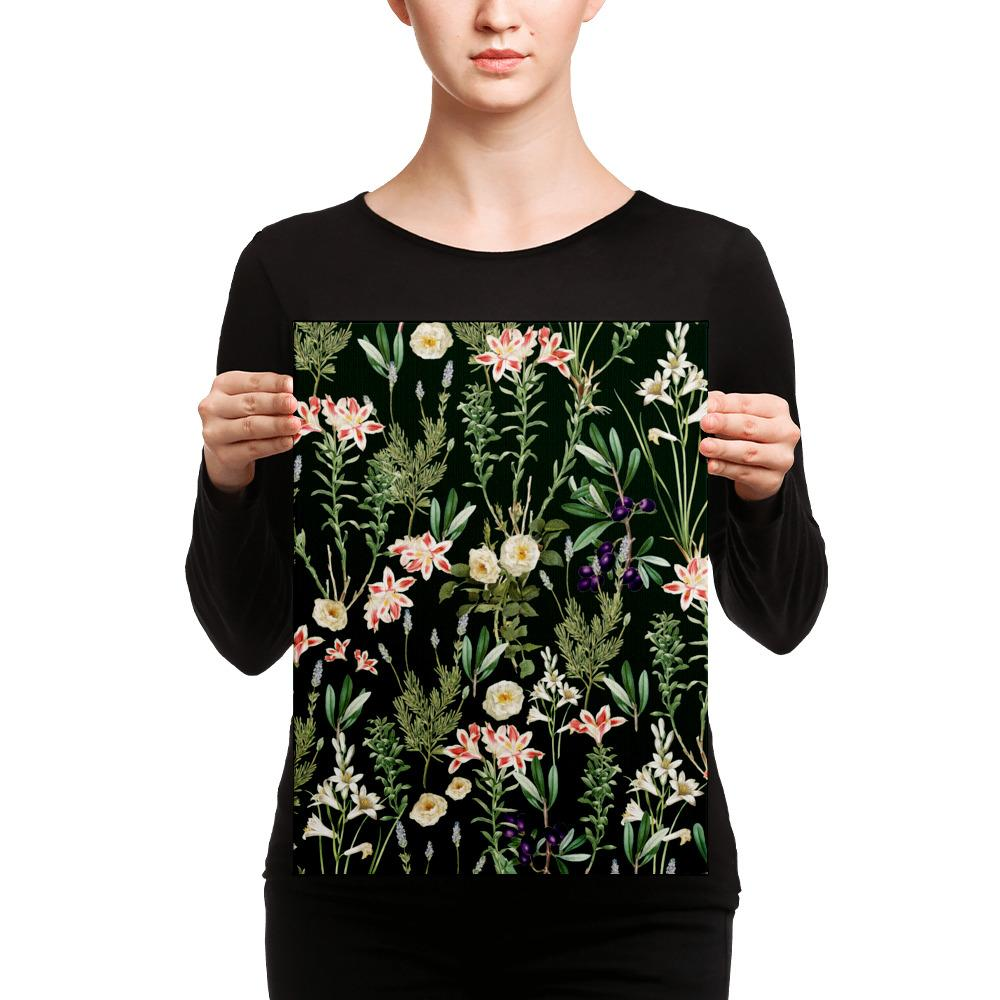 Dark Botanical Garden Canvas
