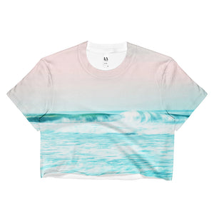 Sun. Sand. Sea. Ladies Crop Top