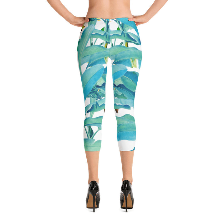 Banana Forest Capri Leggings