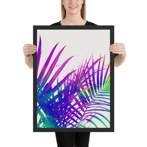 Colorful Palm Framed Poster