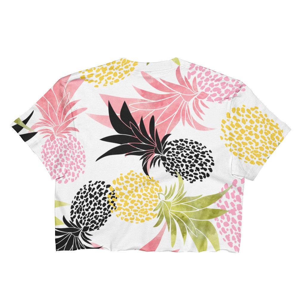 Pineapples Ladies Crop Top