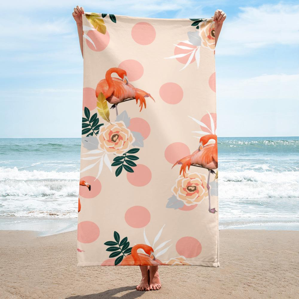Flamingo Jazz Towel