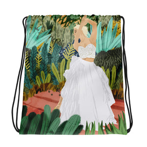 Forest Bride Drawstring Bag