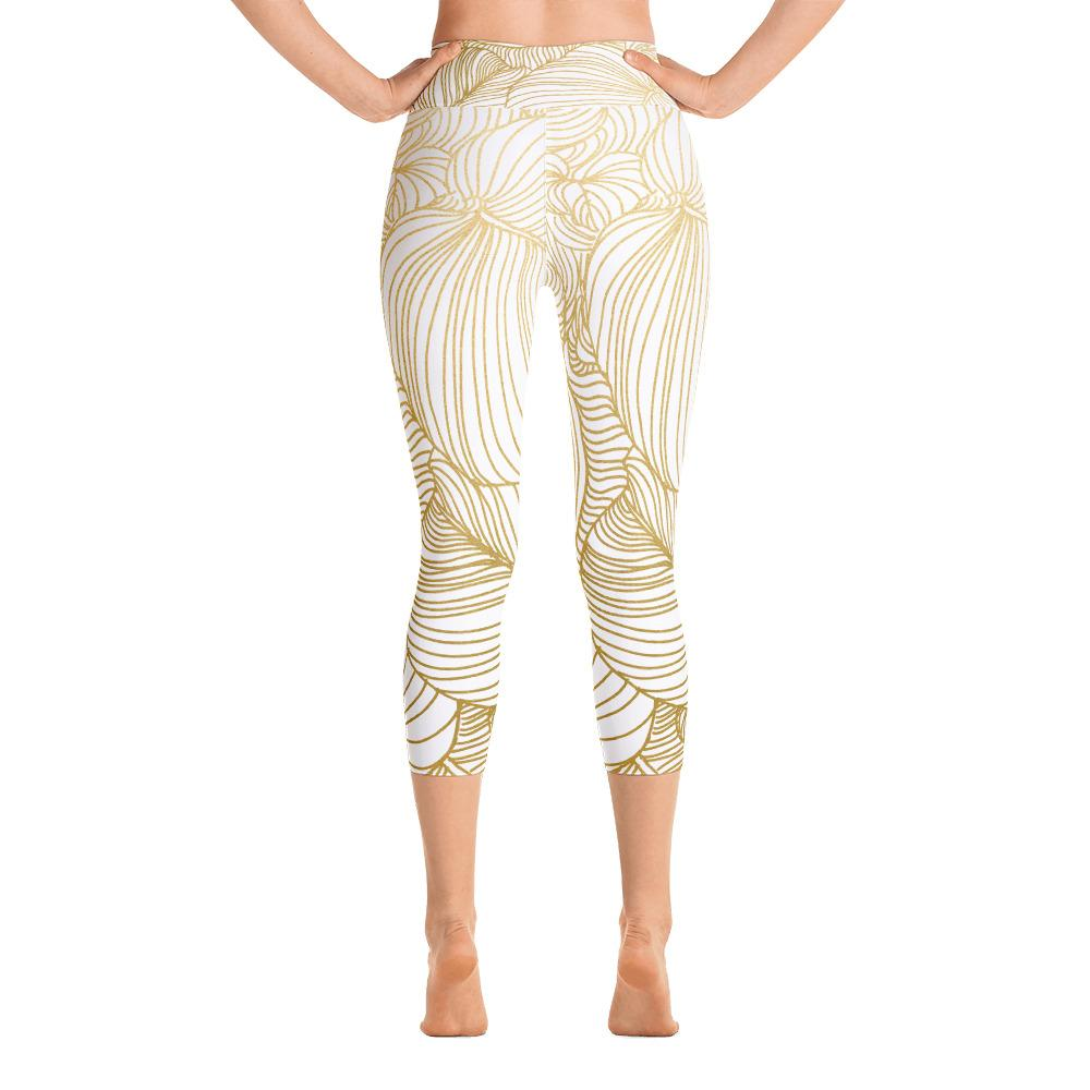 Wilderness Gold Yoga Capri Leggings
